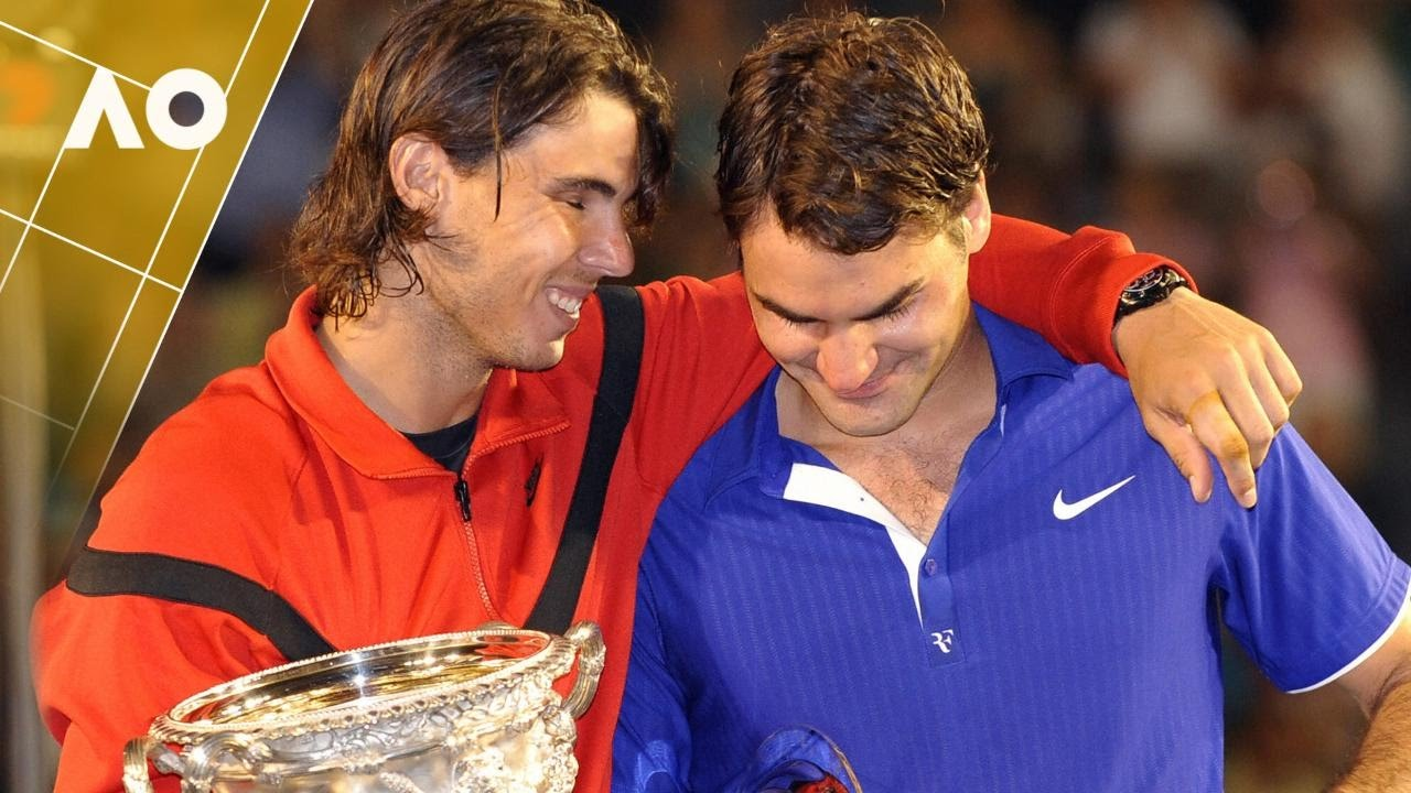 Image result for Nadal Consoling Federer In The Australian Open