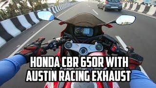Honda CBR 650R with Austin Racing Exhaust   Modifications   Malayalam Vlog