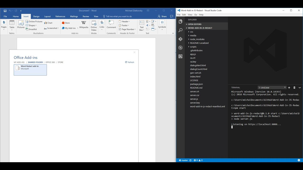 Sideload Office Add-ins in Office on the web for testing