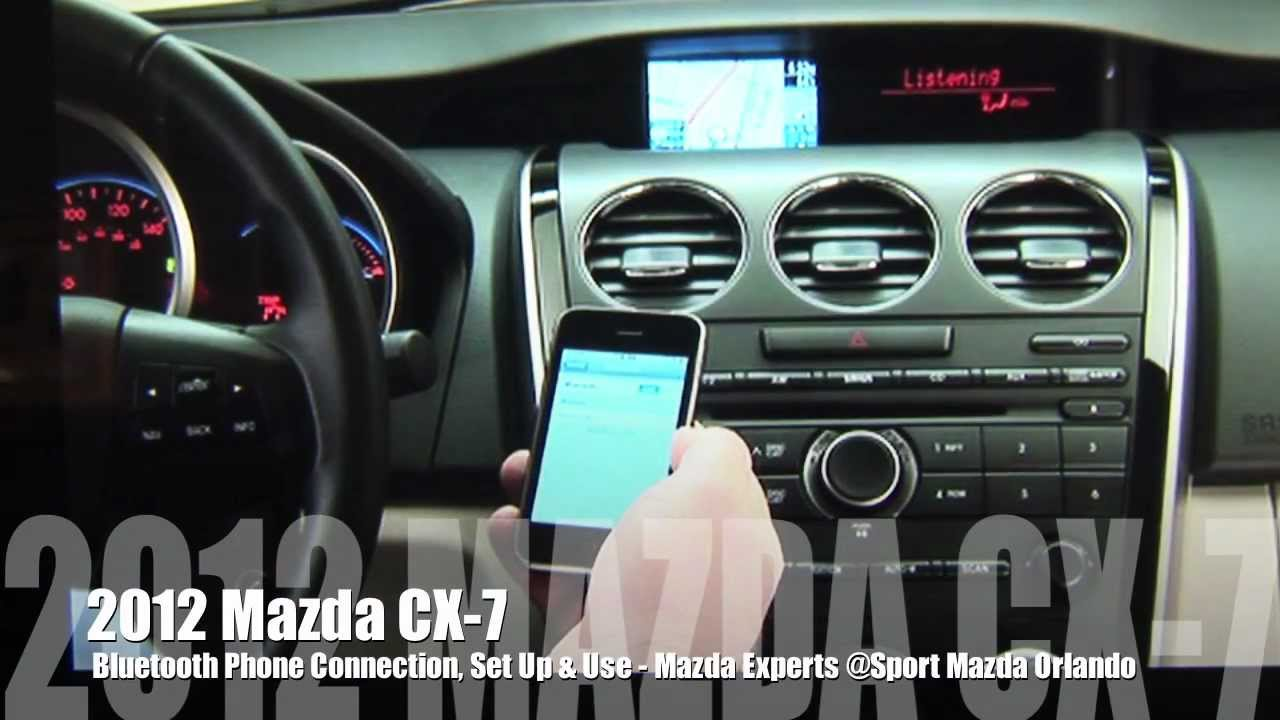2012 Mazda Cx 7 Bluetooth Set Up Youtube