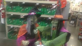 At Home Depot Halloweeen And Christmas Display