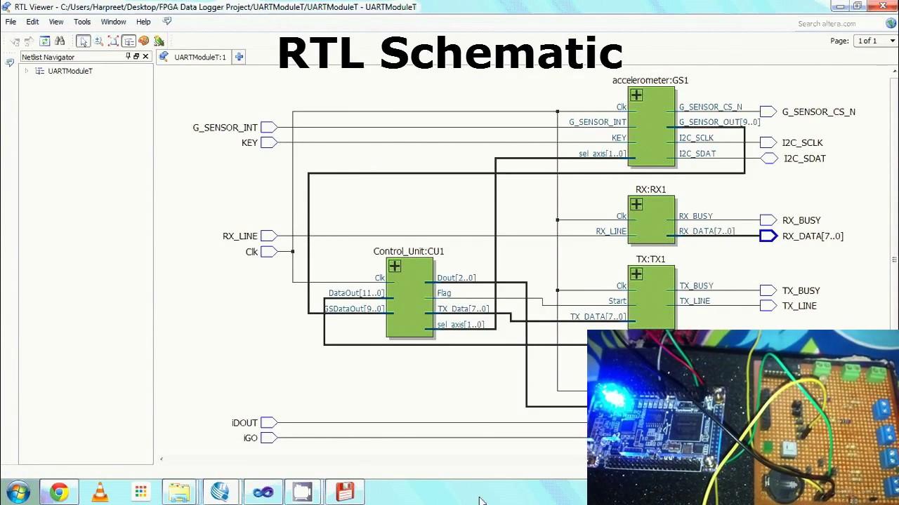 FPGA based Data Logger (ADC, UART and SPI)