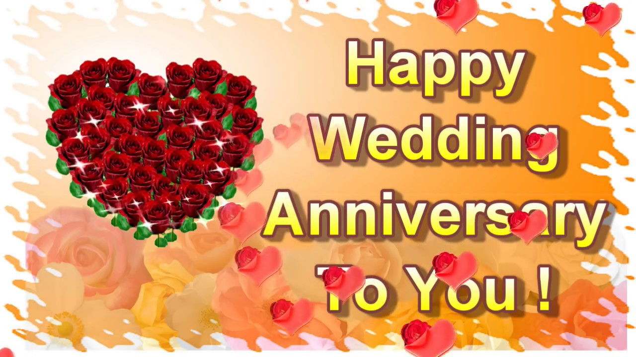 Happy Wedding Anniversary To You Online Greeting Card, Ecard   YouTube