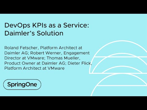 DevOps KPIs as a Service: Daimler's Solution