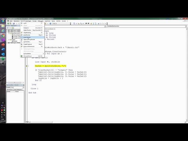 120. Excel-VBA: Eine Textdatei durchsuchen und die Fundstellen in einer Excel-Tabelle dokumentieren