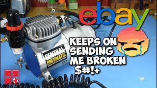 Let's Fix: Harbor Freight Airbrush Compressor | Not again! Dx