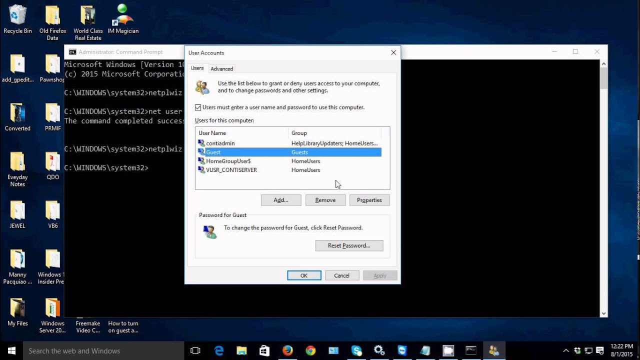 how to recover windows 8 administrator password from guest account