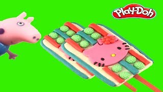 Hello Kitty Ice Cream Play Doh   ไอศครีมแป้งโดว์และตัวเลข |ของเล่นเด็ก