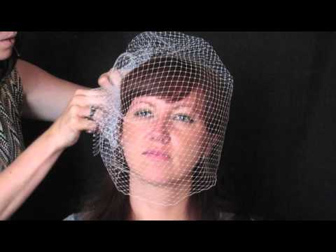 Three Ways To Wear A Full-coverage Birdcage Veil/Russian Blusher, Style V1309 From Veil Trends