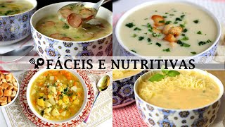 4 Sopas Incríveis, Fáceis e Nutritivas Para Aquecer Nos Dias Frios
