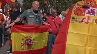 Día de la Hispanidad: miles de personas se manifiestan en Barcelona por el 12 de Octubre