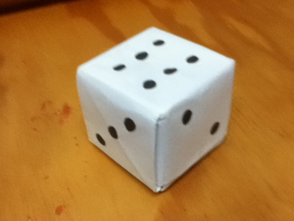 How to Make an Origami Loaded Dice - Paper Dice - Step by Step ...