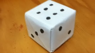How to Make an Origami Loaded Dice - Paper Dice - Step by Step Instructions - Tutorial - DIY
