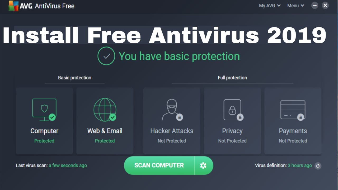 How to install Free AVG Antivirus 2019 For Deeply Scan your Computer Virus | Review Again