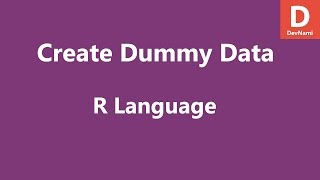 R-Programmierung Erstellen Von Dummy-Daten