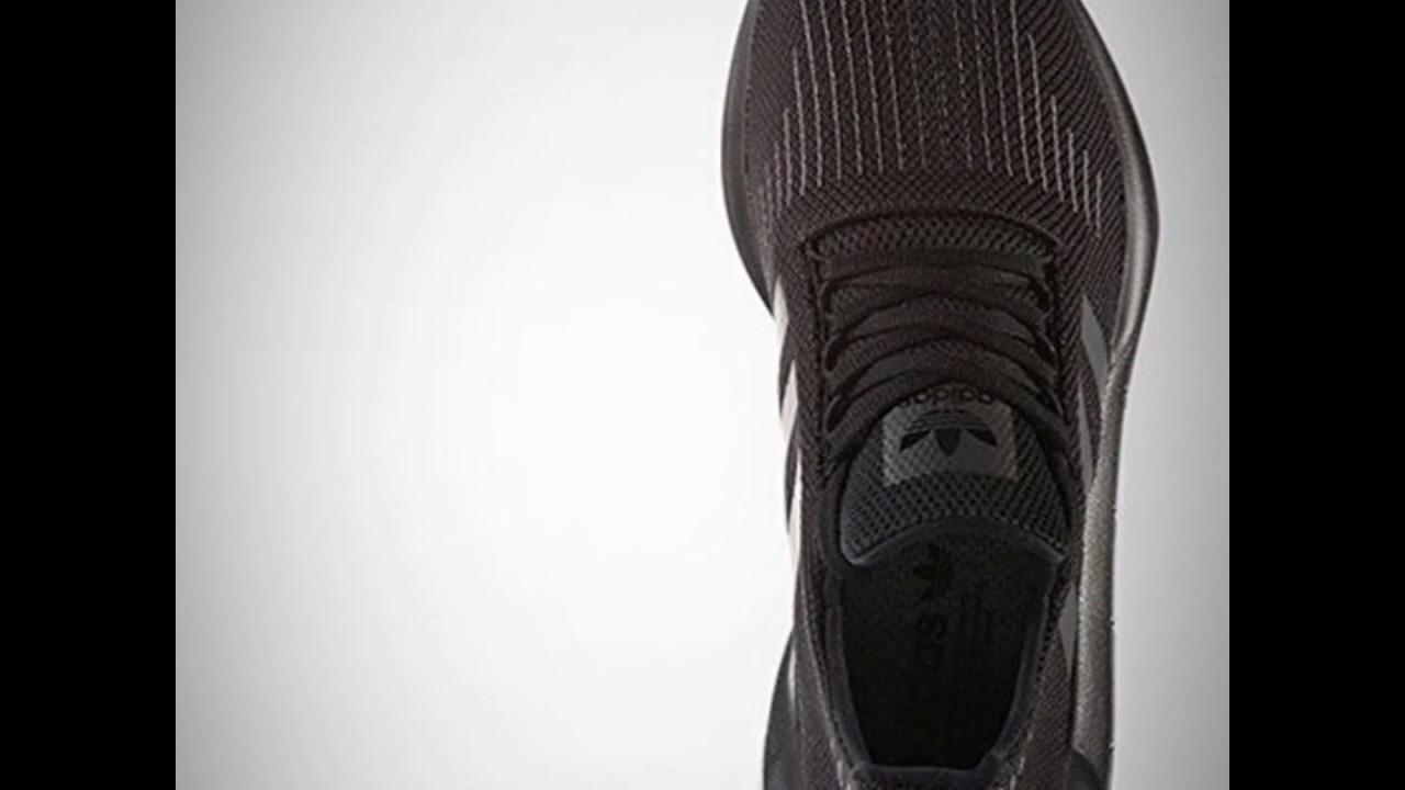 adidas swift run (triple black) su youtube