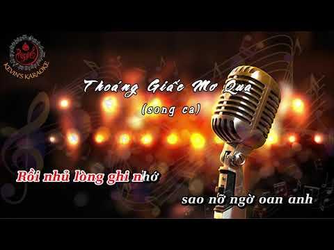 KARAOKE | Thoáng Giấc Mơ Qua | Song ca
