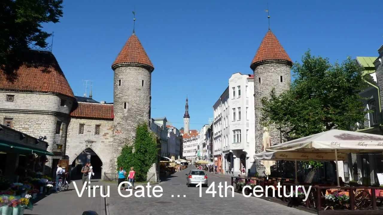 tallinn estonia old town churches towers travel youtube. Black Bedroom Furniture Sets. Home Design Ideas