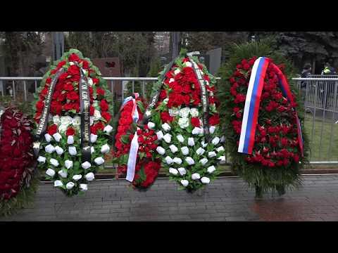 Похороны Юрия Михайловича Лужкова на Новодевичьем кладбище Москвы