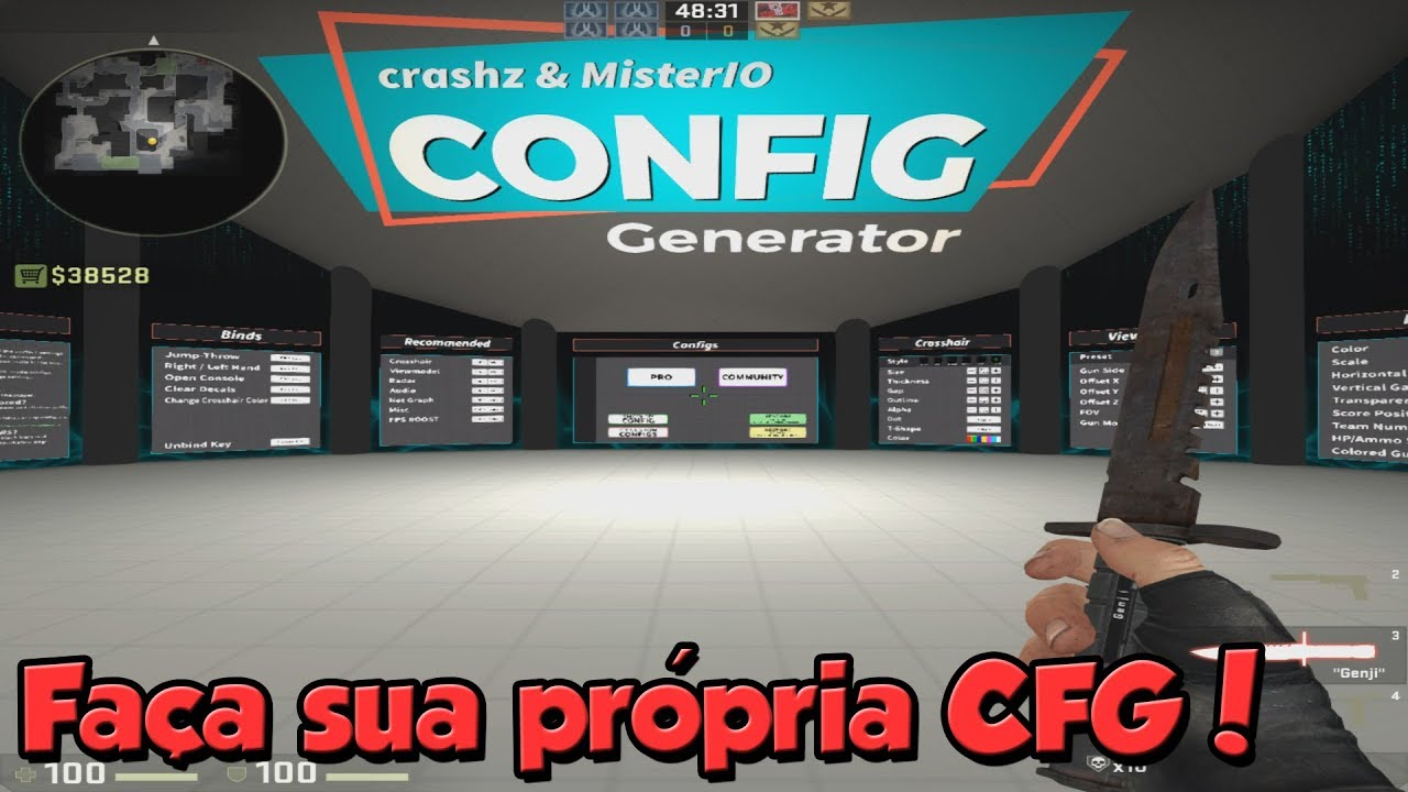 [PT-BR] How to use the NEW CONFIG GENERATOR map in CS: GO - Change bind,  hud, viewmodel and more!