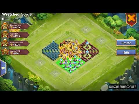 CASTLE CLASH. WRETCHED GORGE 3