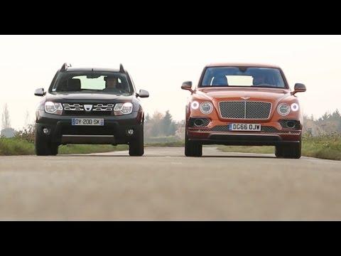 2017 Dacia Duster vs Bentley Bentayga COMPARATIF w ENG SUBTITLES le choc des extr mes