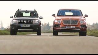2017 Dacia Duster vs Bentley Bentayga [COMPARATIF w/ENG SUBTITLES] : le choc des extrêmes
