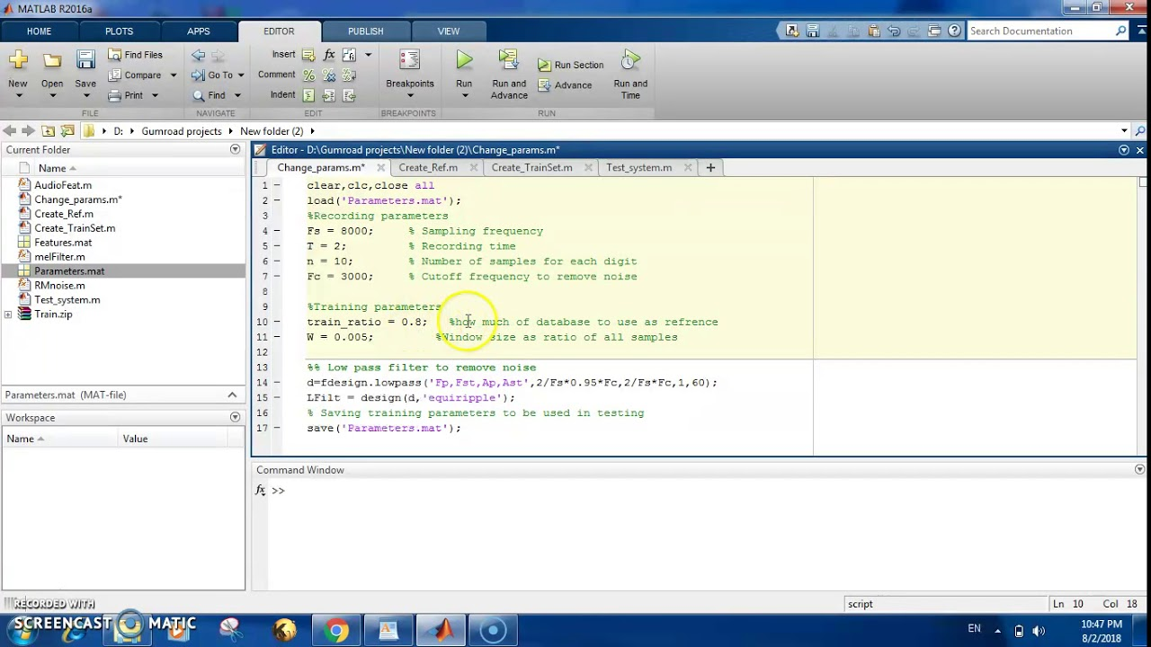 Speech recognition using dynamic time warping DTW in Matlab