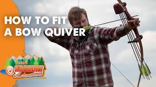 How to fit a Bow quiver (traditional archery)