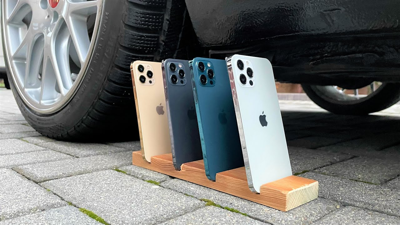 Download 4x iPhone 12 Pro vs CAR 🤑💥 (13min Crushing Compilation)
