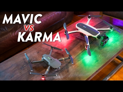 GoPro Karma vs DJI Mavic Pro - Comparison & Review!