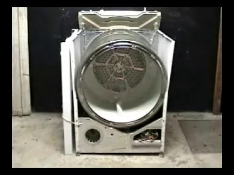 Taking apart GE dryer on