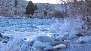 Icy Morning On Convict Lake In The Eastern Sierras 4K