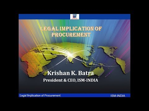 Webinar on Legal Implication of Procurement