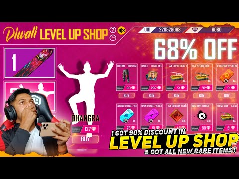 New Diwali Level Up Shop Event I Got All Rare Items In 100 Diamonds At Garena Free Fire 2020