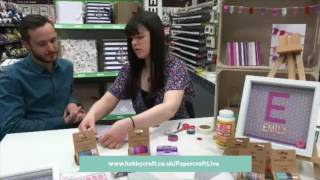 Washi Tape Demonstration - Papercraft Live | Hobbycraft