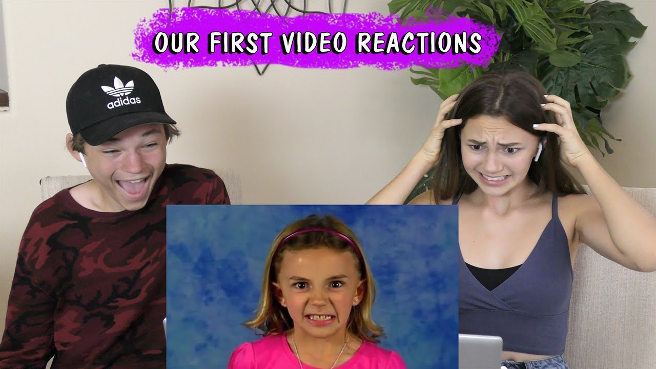 REACTING TO OUR FIRST VIDEO - SO FUNNY! | Kayla Davis