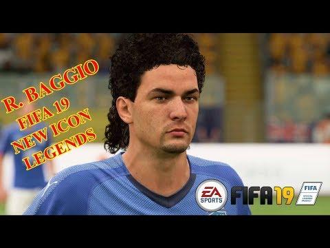 FIFA 19 NEW ICON ROBERTO BAGGIO SKILLS AND GOALS