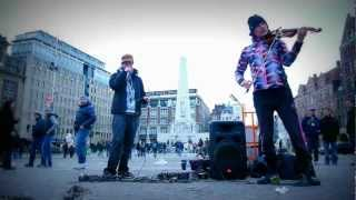 MC Xander & Rebecca Waller (electric violin) Jam on the Dam - Amsterdam