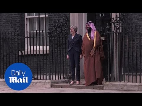 Crown Prince of Saudi Arabia Mohammad bin Salman at Downing Street