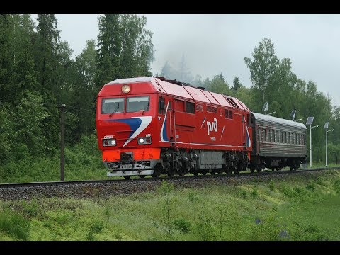 ТЭП70БС 035 с пригородным поездом Александров - Иваново на о.п. 140 км.