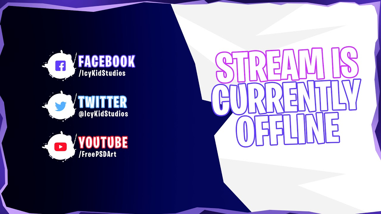 Free Twitch Banner Template Offline Stream Fortnite Psd Free