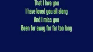 Far Away - Nickelback - Lyrics