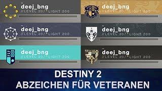 Destiny 2: Abzeichen für Destiny 1 Veteranen (Deutsch/German)