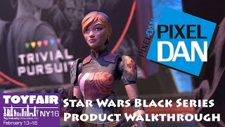 Hasbro Star Wars Black Series Action Figures at Toy Fair 2016