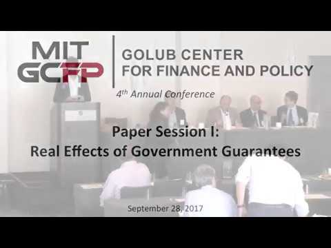 Paper Session I: Real Effects of Government Guarantees