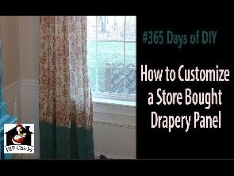 365 DAYS of DIY - How to customize store bought drapes