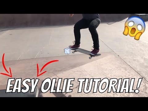 HOW TO OLLIE ON A SKATEBOARD FOR BEGINNERS