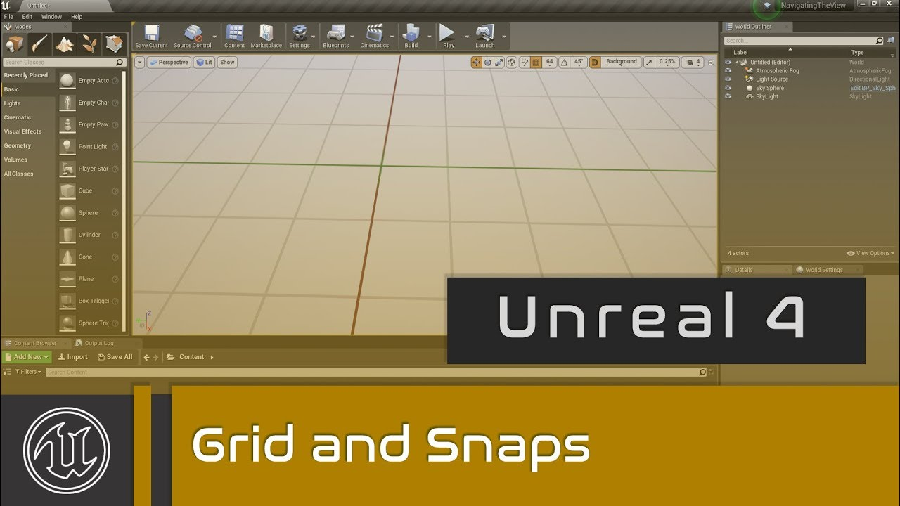 UE4 - Grid and Snaps