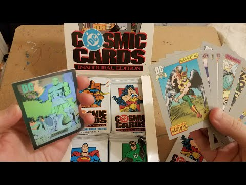 ASMR Opening a Full Box DC Comics Trading Cards: Whispering, Plastic Crinkling, Card Sorting Sounds